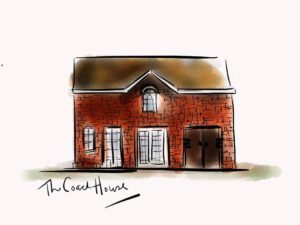 This painting depicts The Coach House - the location of our Micro Enterprise