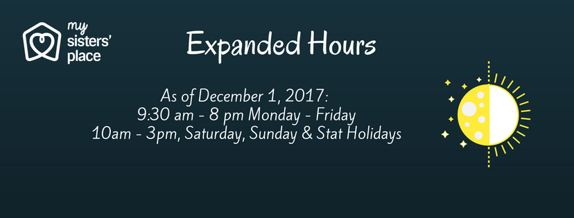 My Sisters' Place expanded hours