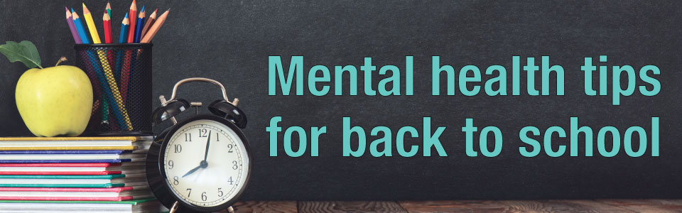Mental health tips for back to school web banner