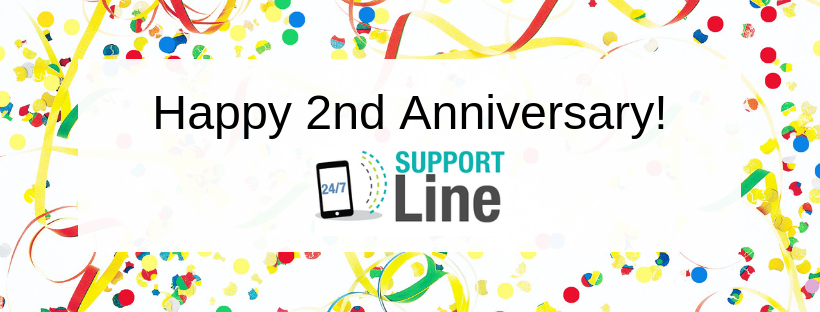 Support Line 2 Year Celebration Banner