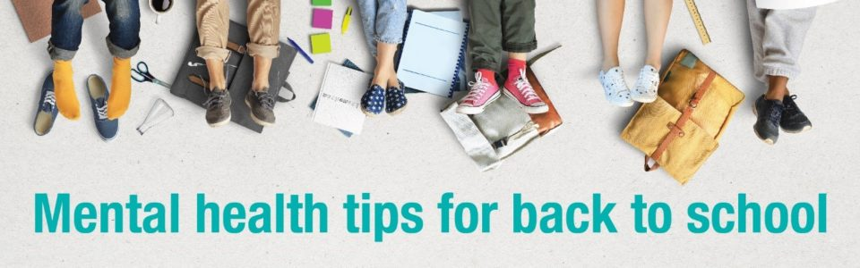 Back to school mental health tip web banner