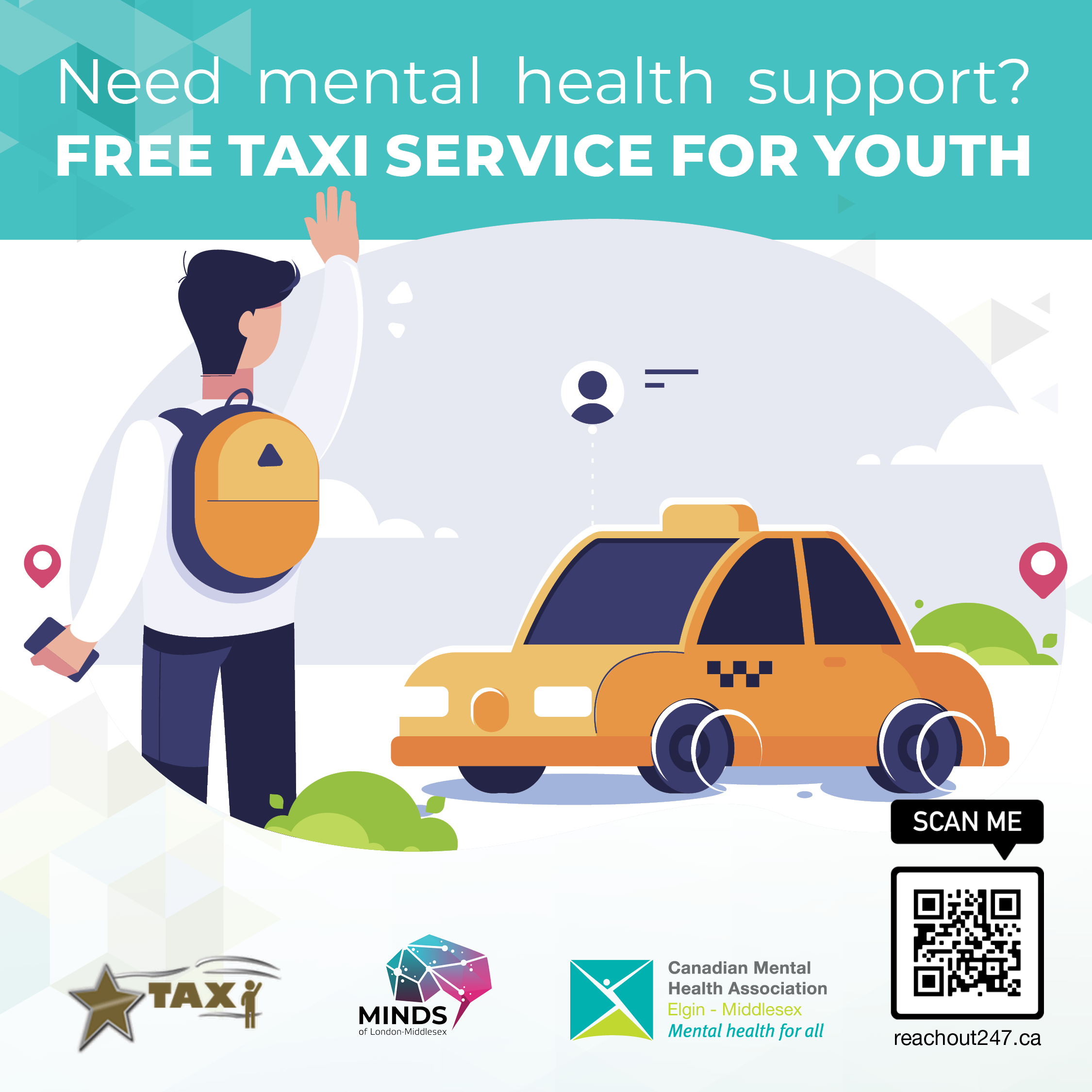 Free Taxi for Rural Youth in Crisis